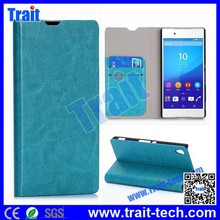 5 color options- Crystal Texture partten Card Slot Flip Stand PC PU Leather Case for Sony Xperia Z4 Z3X with factory price