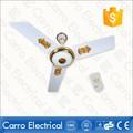 hot vender 22w 48 polegadas 3 lâminas de metal 12v elétrico ac dc iluminação dc ventilador de teto decorativo com luz
