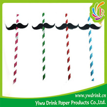 Yiwu Drink Brand Moustache Decorate Paper Drinking Straw China
