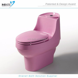 purple red color floor mounted acrylic wc toilet seat, sanitary ware china, portable toilet