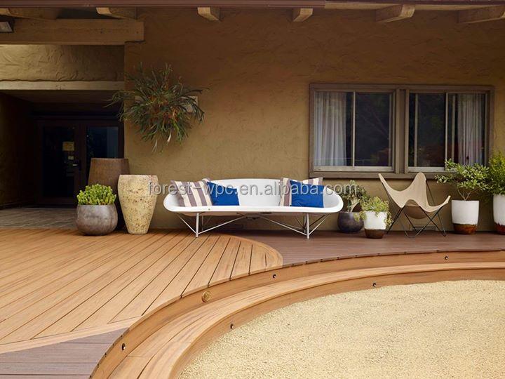 146 21mm Solid Outdoor Deck Floor Covering Vinyl Deck Flooring Interlocking V
