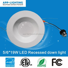 Aluminum Alloy Lamp Body Material ETL Energy Star retrofit dimmable led recessed light