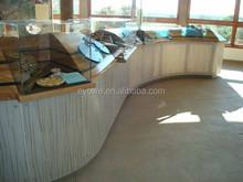 FDA certificated food shop decorative resin panel bear grass lite
