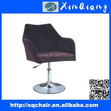 2014 Swivel antique colorful fabric furniture wooden and metal leisure bar stools XQ-816