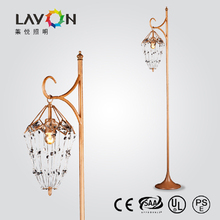 modern classic floor standing lamps with clear crystal