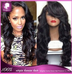 "20"" glueless full lace wig loose wave 6A Grade human hair wigs hidden knots human hair full lace wig alibaba express brazil"
