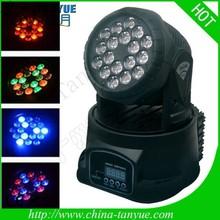 18pcs 3W Popular moving head lights beam Dj Clubs Head Light