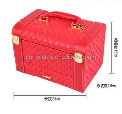 Multilayer hand dressing jewelry storage box,family use jewerlly storage vanity case