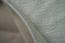 100% polyester polar fleece bonded with sherpa / polar fleece bonded polyester spandex knitting fabric