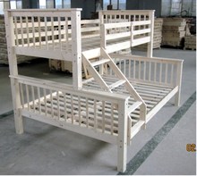 modern Solid Pine wood twin/double full size bunk bed