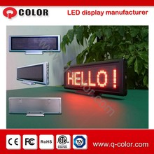 P4 indoor dot matrix yellow rechargeable message LED sign