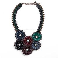 Yiwu Colorful Resin Beaded Necklace , Bib Necklace Fashion Jewelry 2015