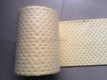 PP nonwoven oil spill absorbent rolls with perforated,15 times absorbency of its weight