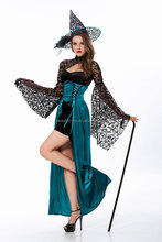 Top Quality Women's Charming Evening Enchantress Fairy Halloween Costume Cheap sexy Witch costume