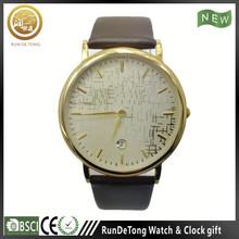 Japan movement calendar men luxury holing watch