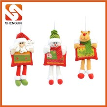 SJ-6471 2015 lovely xmas decorations animated father reindeer snowman christmas gift dolls