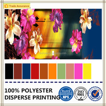hot sale luxury flower colourful painting dyed fabric polyester peach skin textile fabric