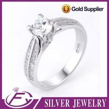 Fancy design cubic zircon 925 sterling silver artificial rings jewellery