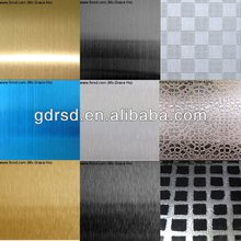 8K mirror ,etched,HL color stainless steel sheet