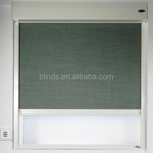 Encaixotado motorizado cortinas blackout hotel com faixa for Do it yourself motorized blinds