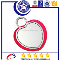 High professional mini compact leather cosmetic mirror/ hand mirror