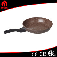non stick stone coating fry pan fry pan with ceramic marble coating stainless steel cookware