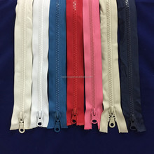 number 5 plastic zipper blue red pink milkey white any color can make order