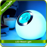 LED Bedside Reading Lamp Create Mini Table Lamp 7 Colors Nature Alarm Desk Lamp