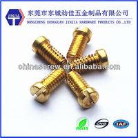 M3*6 slotted cheese head machine brass screw and fastener