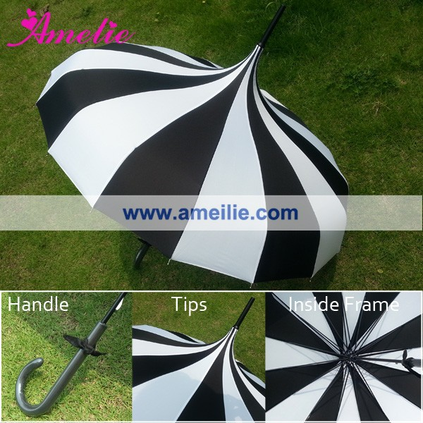 A0456 vintage-inspired pagoda umbrella by Bella (2)