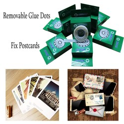 No Messy Restick Reuse Removable Glue Dots for Hanging an Fixing Photos and Paper Documents