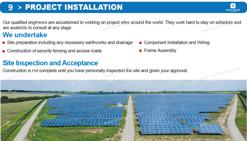 Photovoltaic power plant solar energy project 8 MW park solar power into the grid Solar PV Structure project