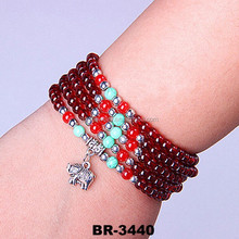 2015 Factory Direct Sale High-quality Beautiful Crystal Beads Chain Bracelet Cheap Dainty Bracelet