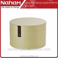NAHAM Natural Recycled Paper Round Hat Box With Lids