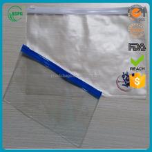 Plastic pvc slider zipper pen bag