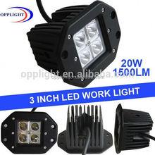 LED work COMBO beam light bars 10-30v alloy off road driving lamp/20w led work light