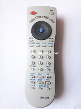 TLD-RM-025 Anhui good quality infrared universal remote control codes for TV/DBS/DVD/VCR china factory near nanjing
