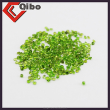 wholesale price natural loose gemstone:round shape chrome green diopside 1.3/1.5mmRD