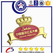hot sale cheapest custom beautiful badge design for the Deesha Princess Match