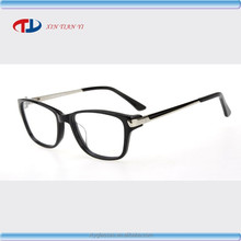 New Fashion Acetate eyewear and Metal unisex optical frame with Big Front FJ3010