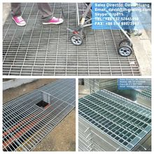 galvanized steel lattice panels, galvanized steel mesh flooring system,galvanized trench covers grates