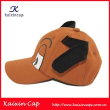 Cheap Wholesale Animal Dog Printed Curved Brim Baseball Caps