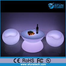 Brillante plástico muebles de la barra de mesa, color rgb llevó la luz de la barra iluminada mesa