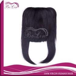 Clip Natural Black Indian Hair Bang