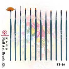 12pcs nail art brush names for manicure