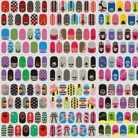 Nail watermark decals sticker premium transfer printing paste manicure nail accessories false nail stickers beardl LAN061-80