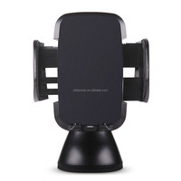 mobile charger,3 coils Qi certified wireless car charger for car