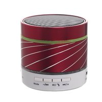 Lightweight Wireless Stereo Audio Bluetooth Speakers with Colorful Led Light Powered by Rechargeable Battery Build in FM Radio