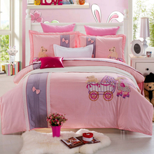 2015 hot sales embroidery bed sheet designs with duvet cover sets