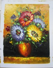 the newest design Decoration flower oil paintings on canvas handmade artworks